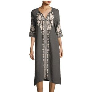Johnny Was Embroidered Linen Peasant Dress